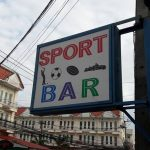 Sport bar Ban Chang sign