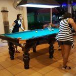 Nina's Kitchen pool table